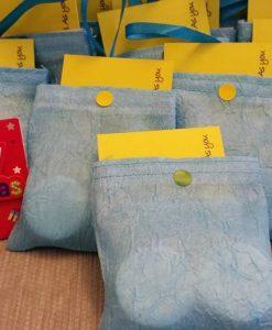 Crushed Blue Organza Bags