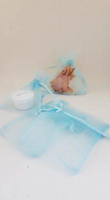 Small Blue Organza Bags