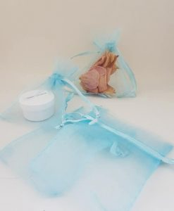 Small Blue Organza Bags