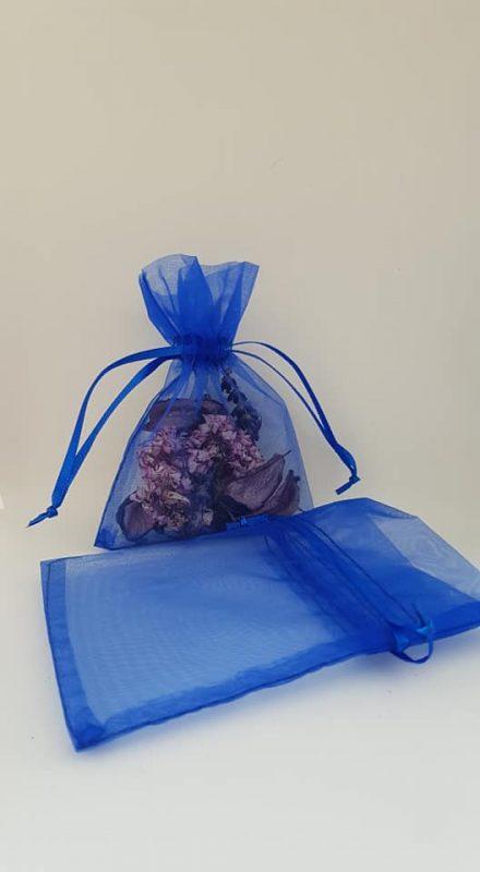 Dark Blue Organza Bags