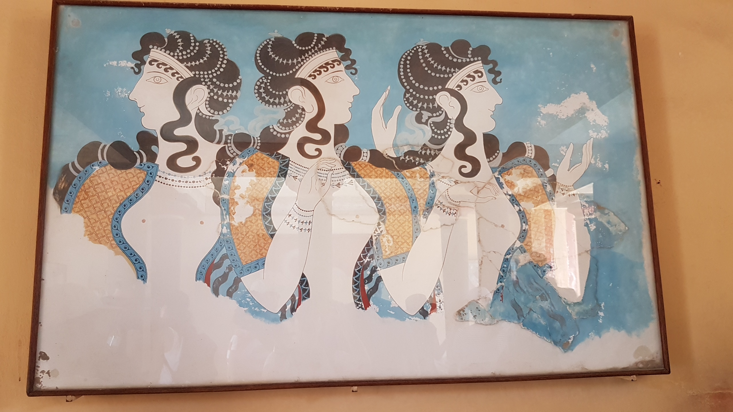 Over the Ladies in Blue Knossos Palace