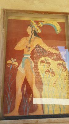 Prince of Lillies Fresco Knossos Palace Crete