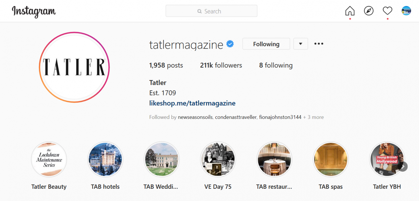 Tatler Shops: Beauty IG
