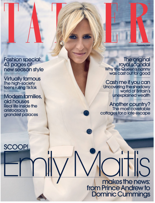 TATLER Aug2020 Cover Emily Maitlis