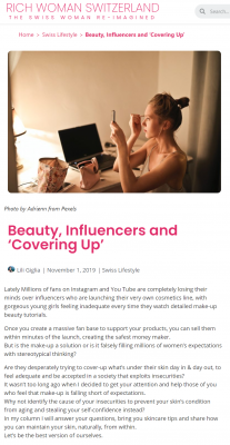 RW Beauty Influencers & Covering Up